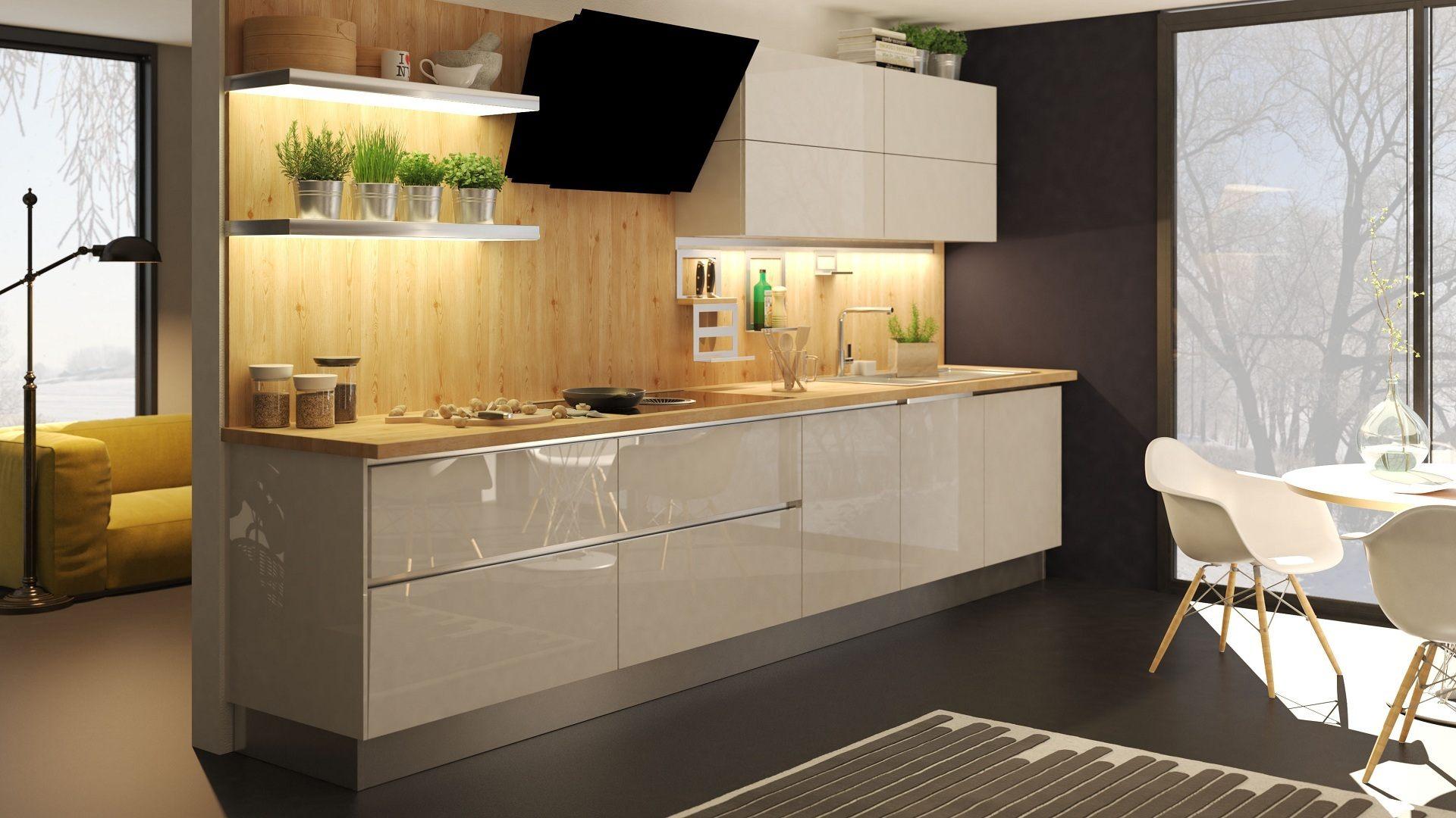 кухня Симпл с интегрированными ручками