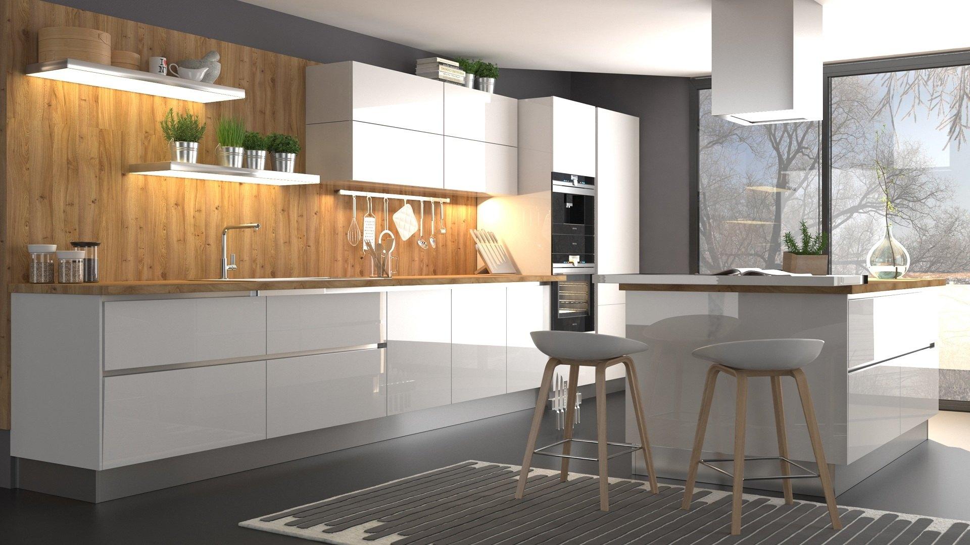 Кухня глянец эмаль