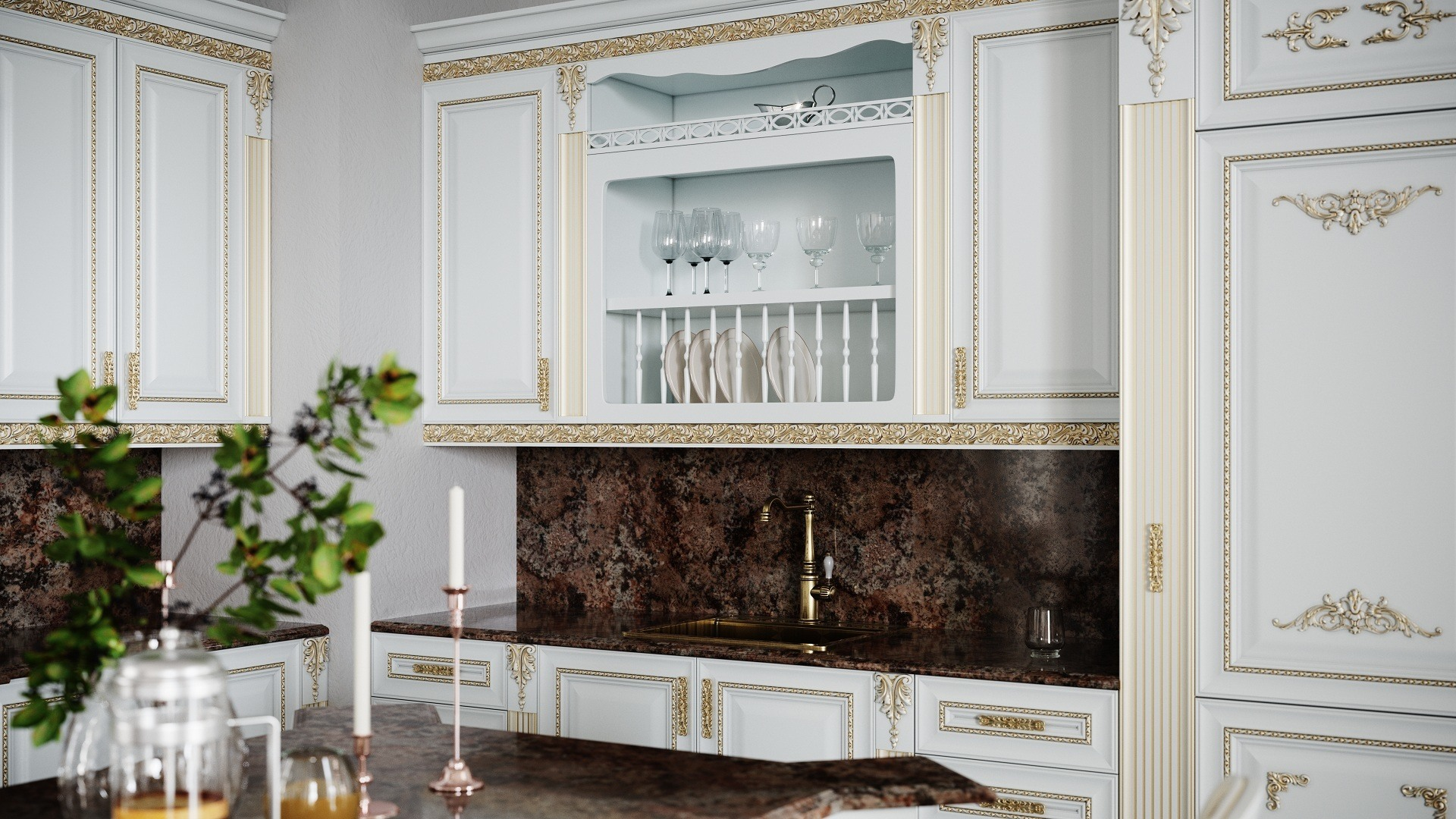 Кухня мдф эмаль Палаццо